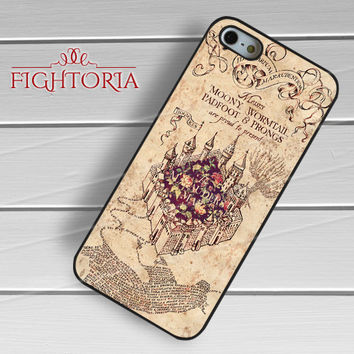 Vintage floral marauder's map -NDA for iPhone 6S case, iPhone 5s case, iPhone 6 case, iPhone 4S, Samsung S6 Edge