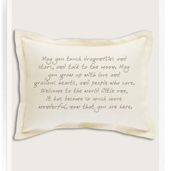 May You Touch Dragonflies And Stars Belgian Linen Pillow