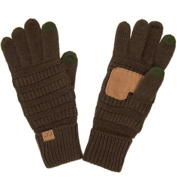 Brown CC Smart Touch Gloves