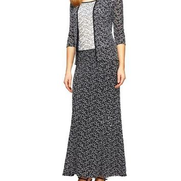Alex Evenings Formal Long Dress with Jacket