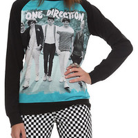 One Direction Crewneck Raglan Girls Pullover