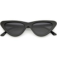Retro 1990's Shallow Flat Lens Cat Eye Sunglasses C520