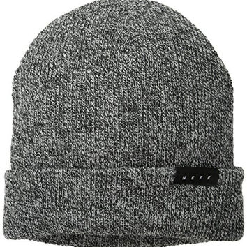 neff Men's Coast Beanie, Black/White, One Size