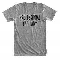Professional cat lady - Future cat lady - Gray/White Unisex T-Shirt - 141