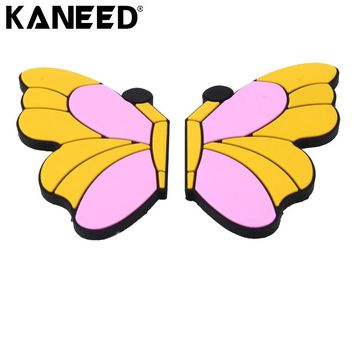 Car Butterfly Decals Butterfly Shape Cartoon Style PVC Car Auto Protection Anti-scratch Door Guard Decorative Sticker 8pcs