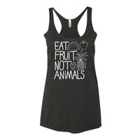 Eat Fruits not Animals Tunic Tank Top
