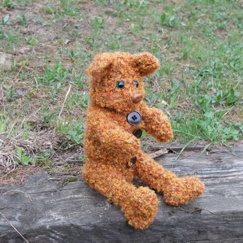 Glass bottle cover Plastic bottle cosy Baby bottle sleeve For kids Crochet cozy Animal shaped cozy Brown bear For animal lovers