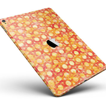 """Orange Watercolor Ring Pattern Full Body Skin for the iPad Pro (12.9"""" or 9.7"""" available)"""