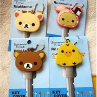 San-X Rilakkuma Teddy Bear, Sentimental Circus Rabbit, Chick Key Cover