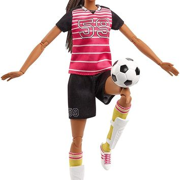 Mattel® Barbie® Made to Move Soccer Player Doll, Brunette