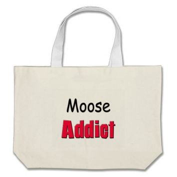 Moose Addict Large Tote Bag