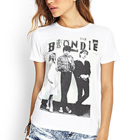 FOREVER 21 Blondie Knit Tee White/Black