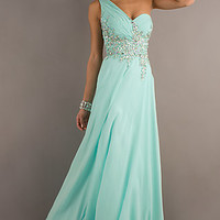One Shoulder Prom Gown with Sheer Back by Tiffany