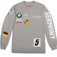 Club Foreign Long Sleeve T-Shirt German Series In Grey