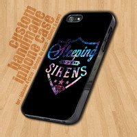 Sleeping With Sirens Logo Galaxy Nebula - iPhone 4 / 4s Case - iPhone 5 Case - Black Case - White Case
