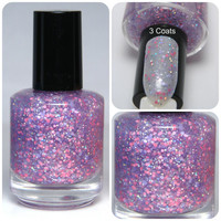 Happy Thoughts - Custom Spring Glitter Nail Polish