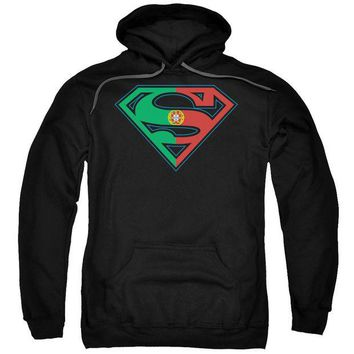 ac NOOW2 Superman - Portugal Shield Adult Pull Over Hoodie