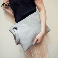 Manka Vesa Fashion Solid Women's Clutch Bag Leather Women Envelope Bag Clutch Evening Bag Female Clutches Handbag