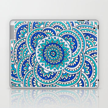Floral Frost Laptop & iPad Skin by PeriwinklePeacoat