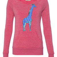 1 giraffe ladies sweatshirt