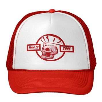 Time to Cook - Red Trucker Hat