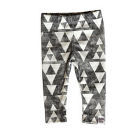 grey triangle leggings, organic knit leggings, baby leggings organic, take home outfit, modern tribal leggings, gender neutral leggings,