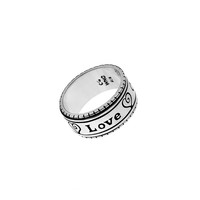 Love One Another Sterling Silver Spinner Ring