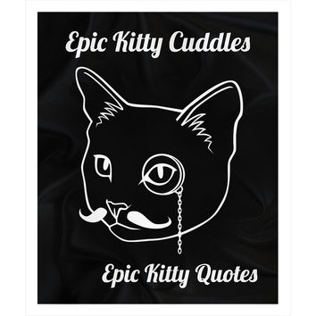Cute Gifts for Cat Lovers Fleece Sherpa Throw Blanket Epic Kitty Cuddles 100% Polyester 50x60 inch EKQ