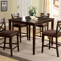 Counter Height Dining Table With 4 Chars Weston I Collection CM3400PT-5PK