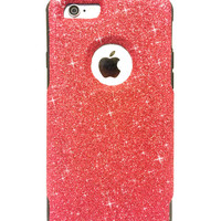 Custom iPhone 6 Plus Glitter Otterbox Commuter Cute Case,  Custom  Glitter Red/ Black Otterbox Color Cover for iPhone 6 Plus