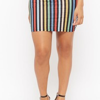 Motel Striped Mini Skirt