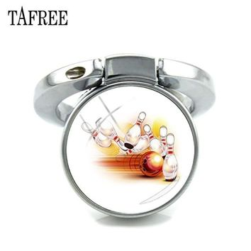 Family Friends party Board game TAFREE Keyring Finger Fing For Phone Bowling Strike Art Picture Glass Dome Expanding Desk Phone Holder 180 Degrees Fold SP883 AT_41_3