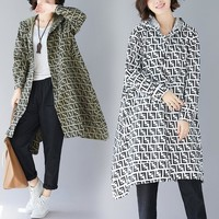 FENDI Newest Stylish Women Casual Long Sleeve Hoodie Cardigan Jacket Coat Windbreaker