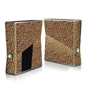 Cheetah Design Protector Skin Decal Sticker for Xbox 360 S Game Console Full Body