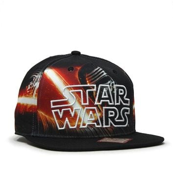 Star Wars Episode 7 Kylo Ren Sublimated Flat Brim Snapback Baseball Cap