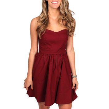 The Savannah Dress in Crimson by Lauren James