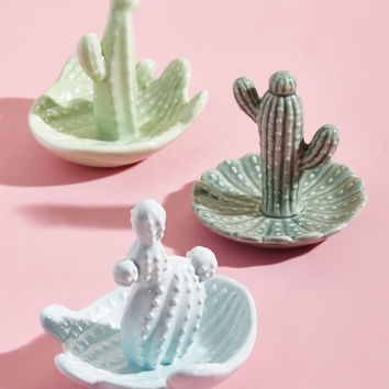 Aloe My Friends Cactus Jewelry Dish Set