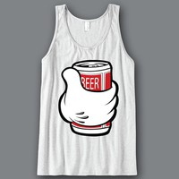 Mickey Beer Can Unisex Tank Top Funny and Music