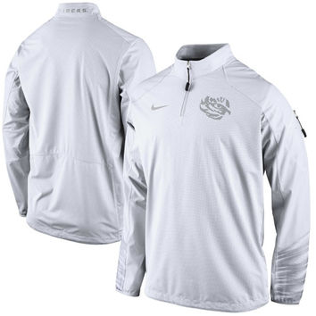 LSU Tigers Nike Platinum Fly Rush 2.0 Jacket - White - http://www.shareasale.com/m-pr.cfm?merchantID=7124&userID=1042934&productID=551047680 / LSU Tigers