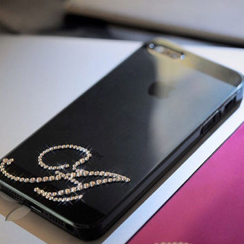 Monogram/Initial Swarovski Crystal Case Made With Swarovski Elements Crystals - Bling iPhone Monogram case