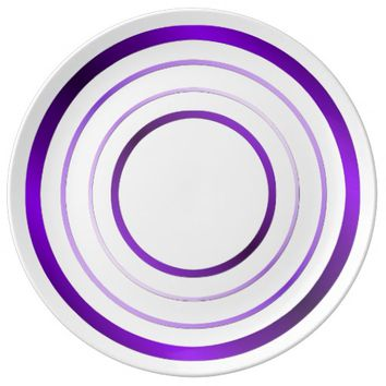 Purple Rings Porcelain Plate