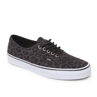 Vans Authentic Leopard Shoes - Mens Shoes - Black