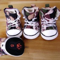 Cute Puppies Shoes Adorable Dogs Sneakers Pet Footwear Accessories SKULL Design-SIZE 1