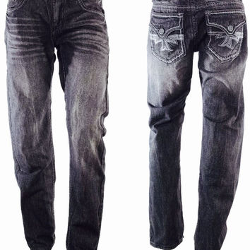 Men's Xtreme Couture Affliction Hollywood Black BKE Jeans