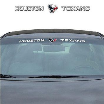 Houston Texans NFL Licensed Auto Car Truck Windshield Decal
