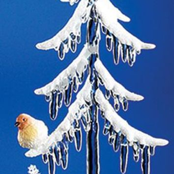 Short Icicle Tree w/ Birds