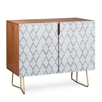 Heather Dutton Diamond In The Rough Grey Credenza