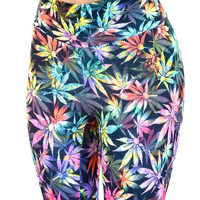 Northern Lights Pot Print High Waist Leggings