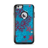 The Colorful Blue and Red Starfish Shapes Apple iPhone 6 Plus Otterbox Commuter Case Skin Set
