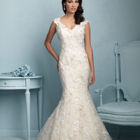 Allure Bridals 9220 Low Back Lace Wedding Dress
